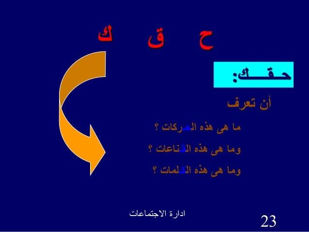 االجتماعات ادارة 23 ك ق ح حــقـــــك: تعرف أن ال هذه هى ماحـ؟ ركات ال هذه هى وماقـ...