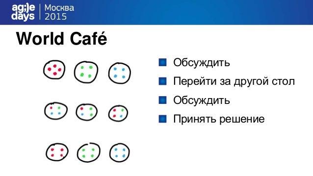 World Café Обсуждить Перейти за другой стол Обсуждить Принять решение