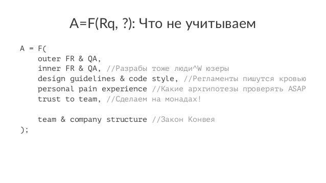 А=F(Rq,(?):(Что(не(учитываем A = F( outer FR & QA, inner FR & QA, //Разрабы тоже люди^W юзер design guidelines & code styl...
