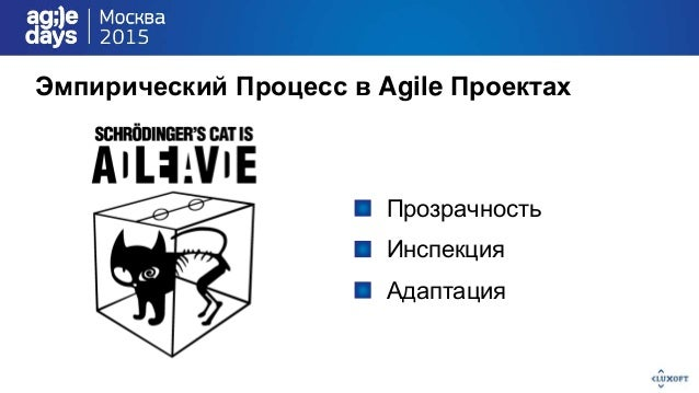 Эмпирический Процесс в Agile Проектах Прозрачность Инспекция Адаптация