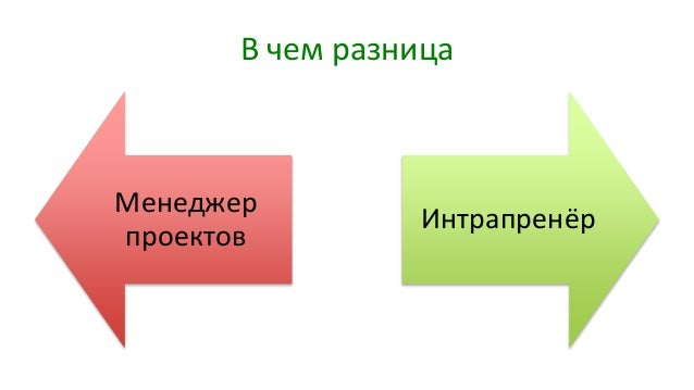 В чем разница Менеджер проектов Интрапренёр