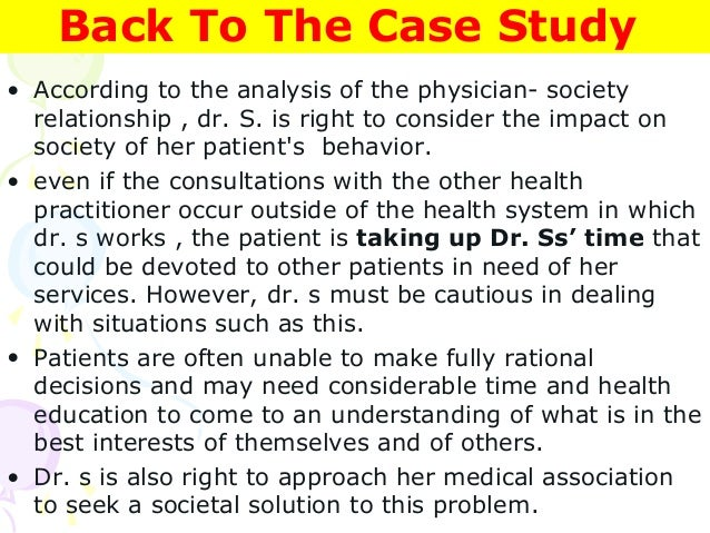 medical ethics case study questions Medical ethics: study guide for test 3 the final test is wednesday, april 22, in our regular classroom studying the questions below will be helpful to you in.