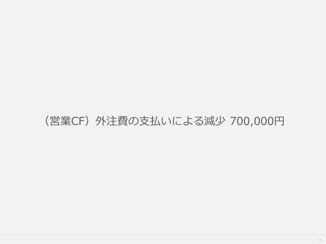 35 (営業CF)外注費の支払いによる減少 700,000円