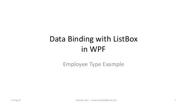 C# Net - Data Binding of complex types in WPF and XAML