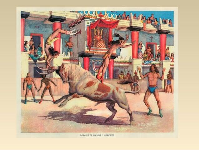 Οι Μινωίτες λάτρευαν τους ταύρους, γιατί συμβόλιζαν την ορμή και τη δύναμη της ζωής. Σύμβολα της θρησκείας τους ήταν τα ιε...