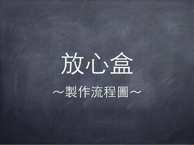 放⼼心盒 〜~製作流程圖〜~