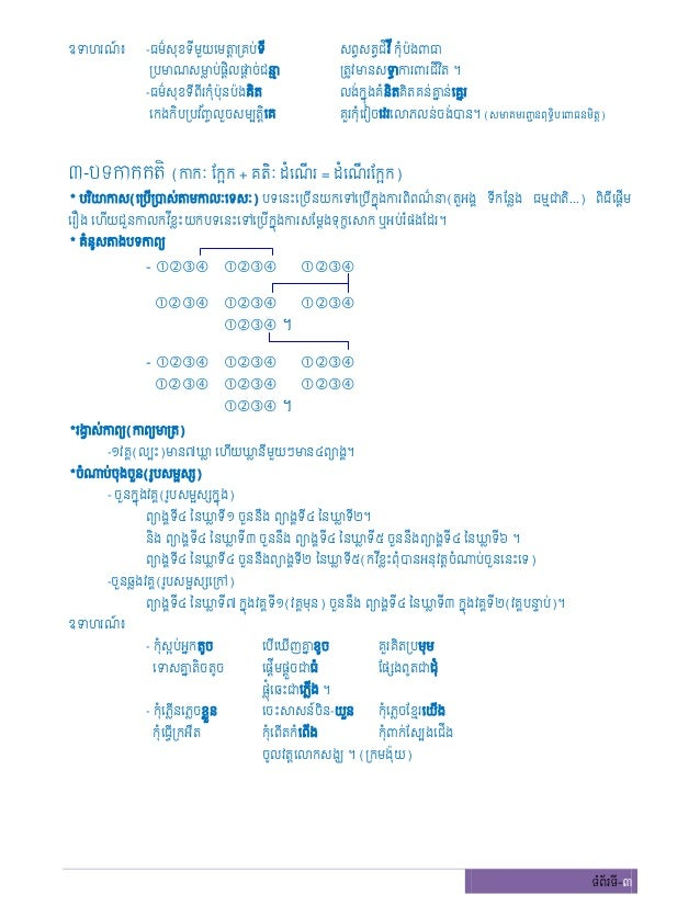 Learn to write Khmer Poem