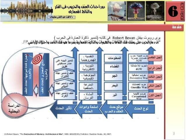 دور احداث العنف والحروب فى الفكر والناتج المعمارى Slide 2