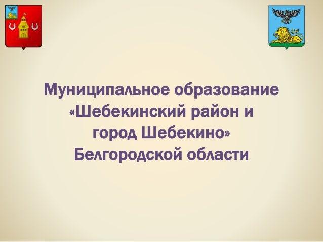 Муниципальное образование «Шебекинский район и город Шебекино» Белгородской области