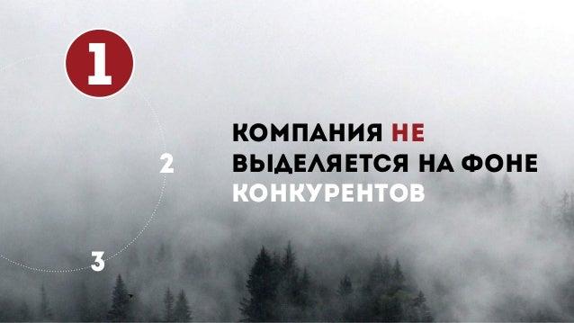 1 2 3 КОМПАНИЯ НЕ ВЫДЕЛЯЕТСЯ НА ФОНЕ КОНКУРЕНТОВ
