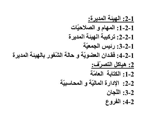 1-2:الهيئةالمديرة: 1-2-1:المهاموّاتيالصالح 1-2-2:المديرة الهيئة تركيبة 1-2-3:ّةيالجمع رئيس 1-2...