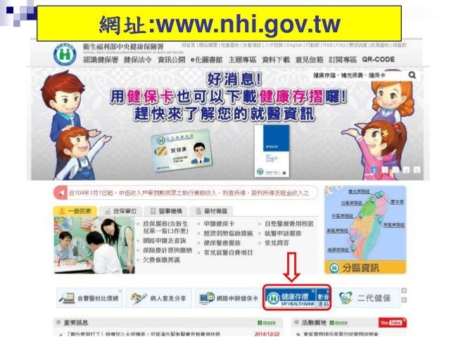 網址:www.nhi.gov.tw