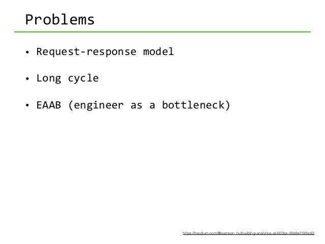 Possible  solutions • Approach  1: SQL  monkey*  zoo http://www.slideshare.net/GloriaLau1/keynote-at-spark-summit...