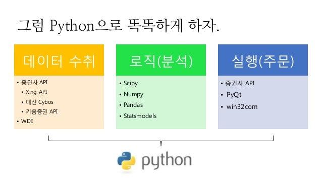 파이썬으로 똑똑하게 주식하기. Slide 3