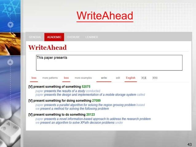 WriteAhead 43
