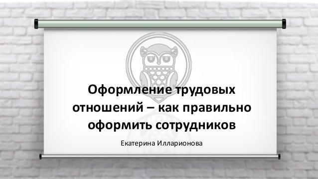 Оформление трудовых отношений – как правильно оформить сотрудников Екатерина Илларионова