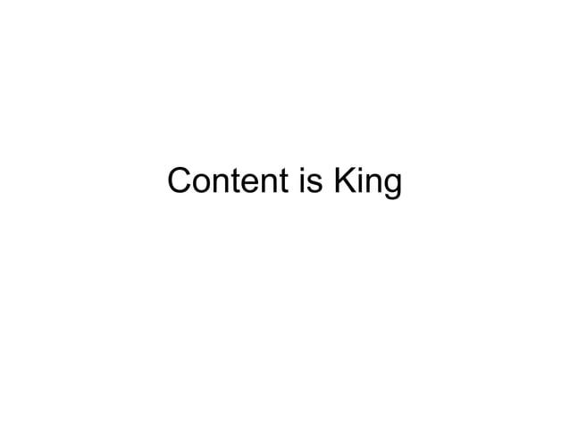 Контент, конечно, король • Но с утилитарной задачей извлечения траффика по запросу он не справляется. • Контент-маркетинг ...