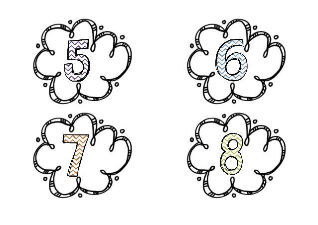 Καρτελάκια με αρίθμηση για τους ΗΥ του Εργαστηρίου Πληροφορικής