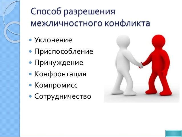 Способы урегулирования межличностных конфликтов