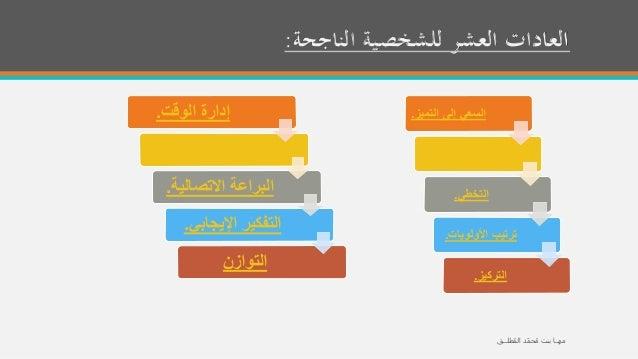 العادات العشر   ، مها بنت مُحمّـد المُطلــق Slide 2