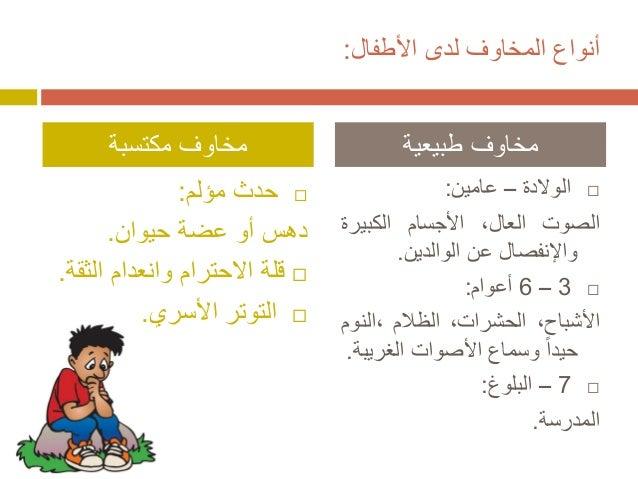 الخوف عند الاطفال Slide 3