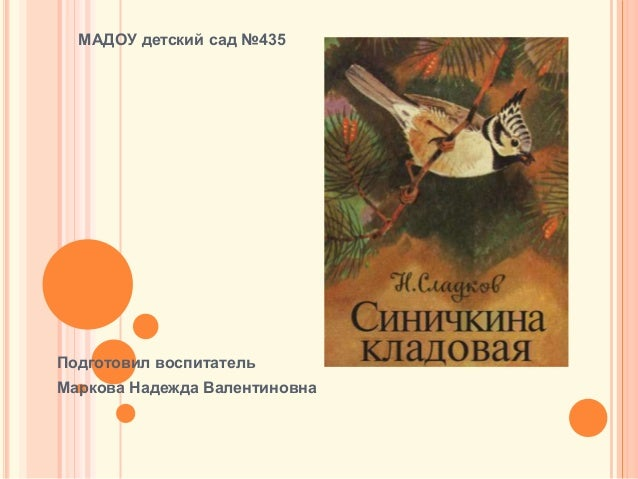 Подготовил воспитатель Маркова Надежда Валентиновна МАДОУ детский сад №435