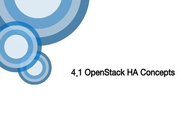 4.1 OpenStack HA Concepts