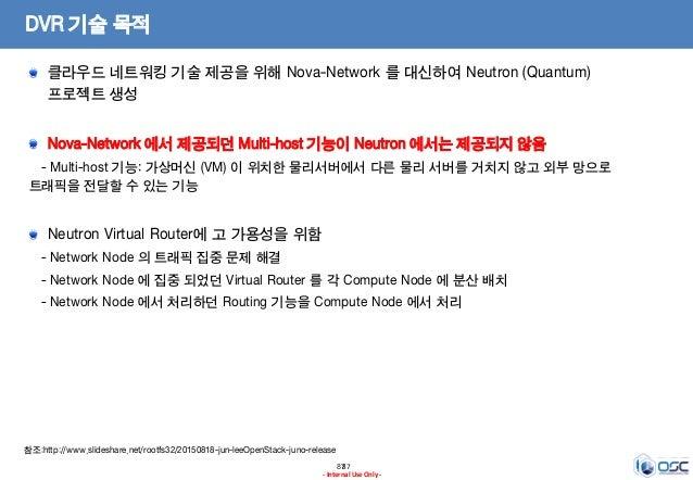 8787 - Internal Use Only - DVR 기술 목적 클라우드 네트워킹 기술 제공을 위해 Nova-Network 를 대신하여 Neutron (Quantum) 프로젝트 생성 Nova-Network 에서 제공되...