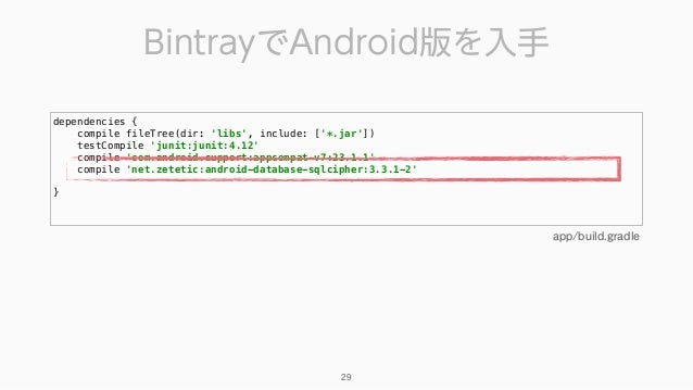 dependencies { compile fileTree(dir: 'libs', include: ['*.jar']) testCompile 'junit:junit:4.12' compile 'com.android.su...