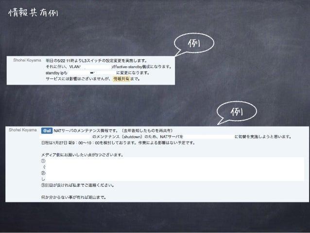 情報共有例 例 例