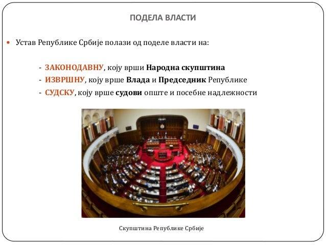 органи власти   народна скупштина, влада, председник државе Slide 2