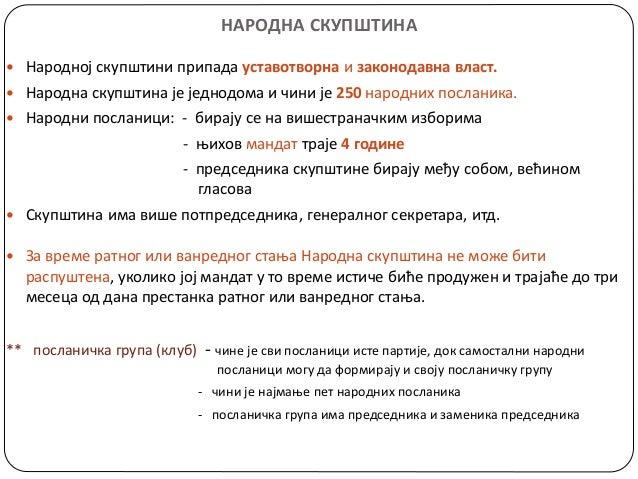 органи власти   народна скупштина, влада, председник државе Slide 3