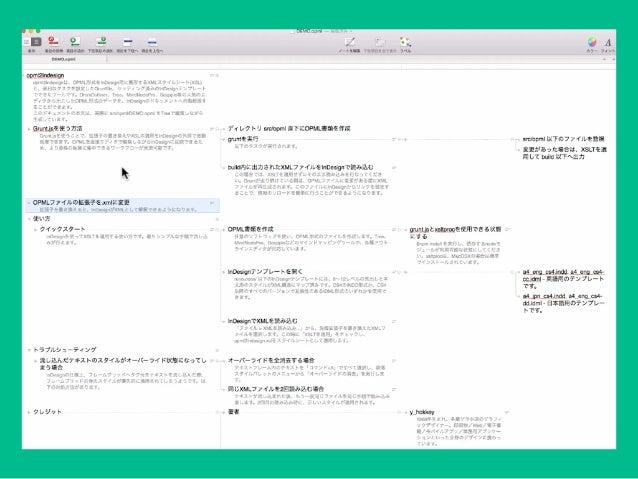 アイデアを発展・整理するための便利なアプリとその使い方 紙的な自由さ テキストエディタ的 制約 MindNode Scapple OmniOutliner マインドマップ系 アウトライナー系 Grafio 簡易チャート系 OSX対応 iOS対応...