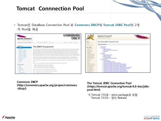 • Global Resource Level → DataSource Pool Global level 공유 • Global Resource(server.xml) + Resouce Link(application-context...