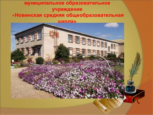 Сведения об авторе муниципальное образовательное учреждение «Новинская средняя общеобразовательная школа»