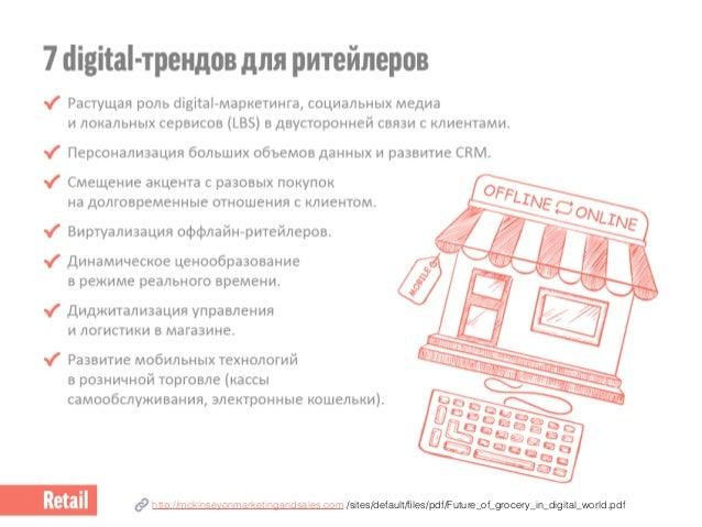 Ритейл в России: как гипермаркеты используют digital-коммуникации. Slide 2
