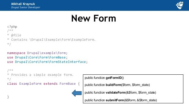 Михаил Крайнюк - Form API + Drupal 8: Form and AJAX