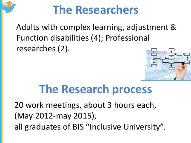 learning disabilities research paper They include students identified as having learning disabilities (ld) as well as   paper reports on the characteristics of this literature base, trends in research.