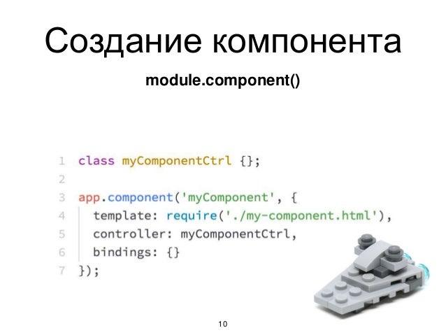 Создание компонента 10 module.component()