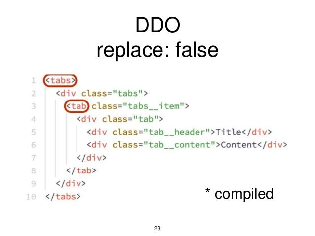 DDO replace: false 23 * compiled