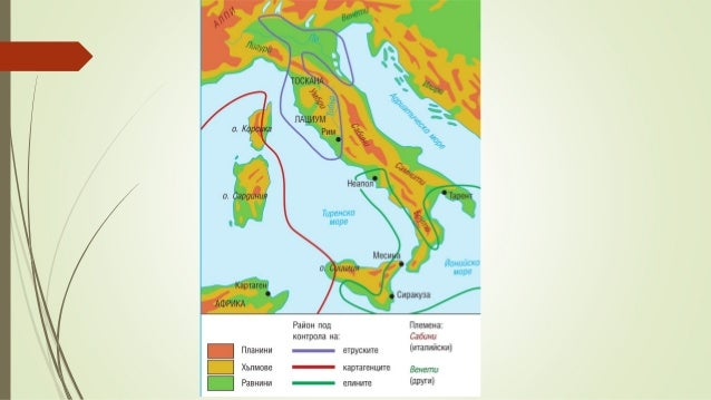Етруската цивилизация – VIII – VII век пр. Хр. – цивилизация от градски тип Използват желязо, бронз, злато Строят пътища...
