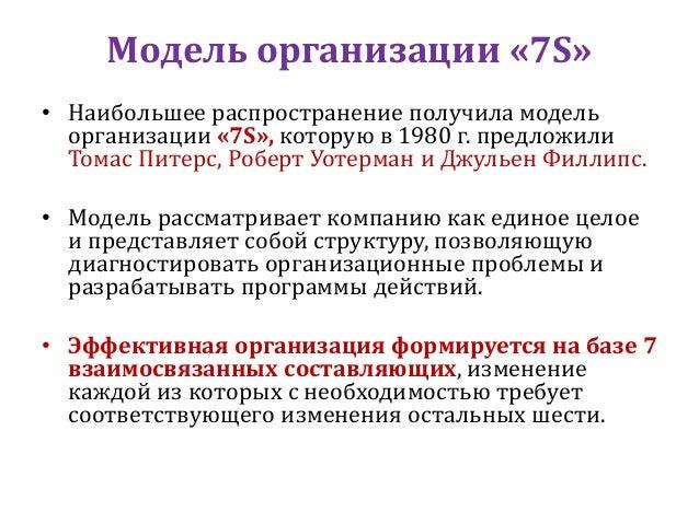 Модель Питерса - Уотермана