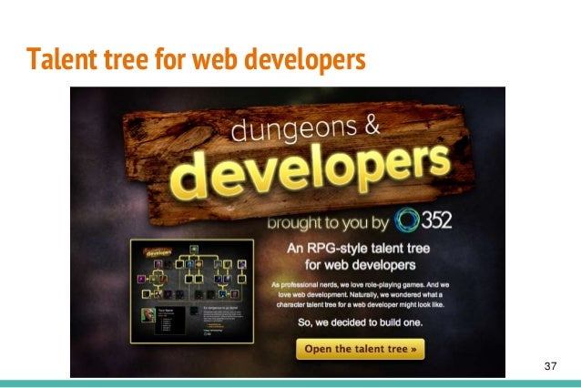 Talent tree for web developers 37