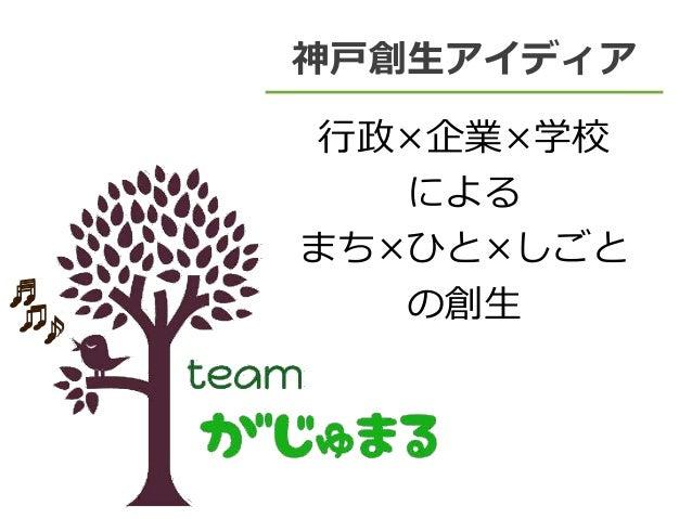 神戸創生アイディア 行政×企業×学校 による まち×ひと×しごと の創生 ♪♫ ♬ ♪♫ ♬ ♪♫ ♬