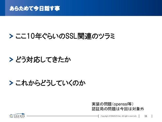 暗号アルゴリズムにおける2010年問題 https://jp.globalsign.com/service/ssl/knowledge/1024bit.html より 2005年頃にNISTが発表したガイドライン SSLでよく使われているRSA...