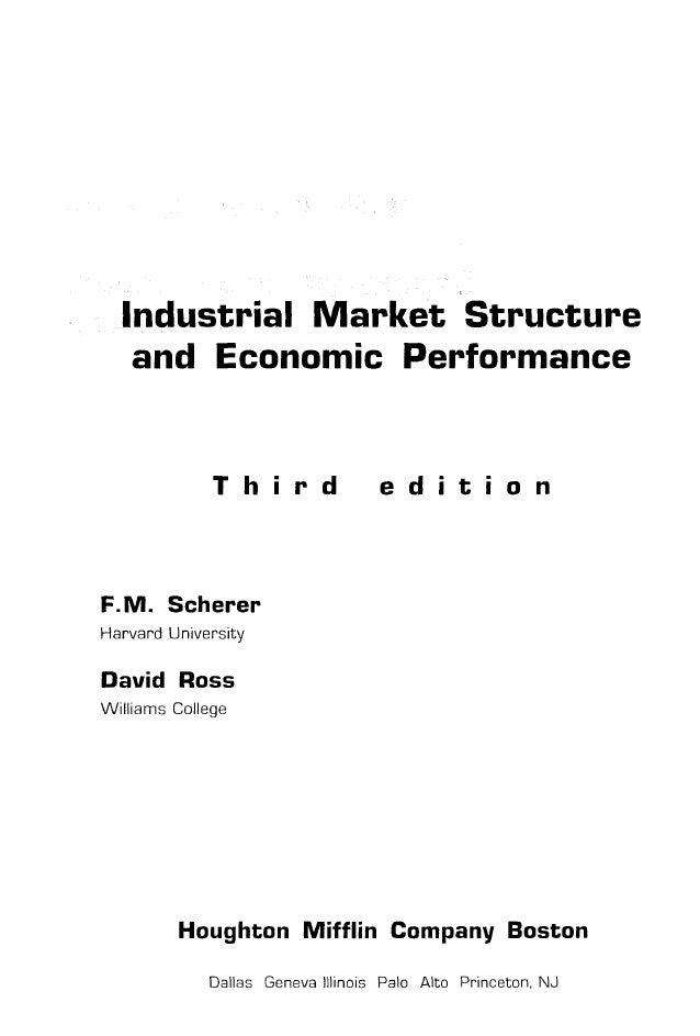 Структура отраслевых рынков