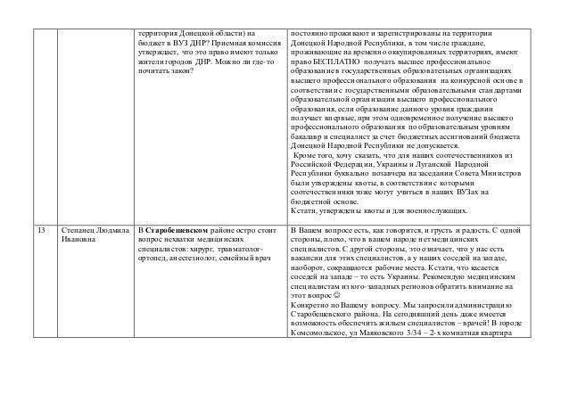 территория Донецкой области) на бюджет в ВУЗ ДНР? Приемная комиссия утверждает, что это право имеют только жители городов ...
