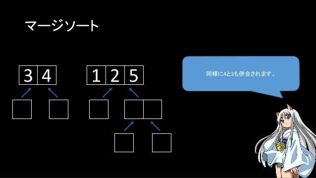 マージソート 同様に4と3も併合されます。 143 2 5
