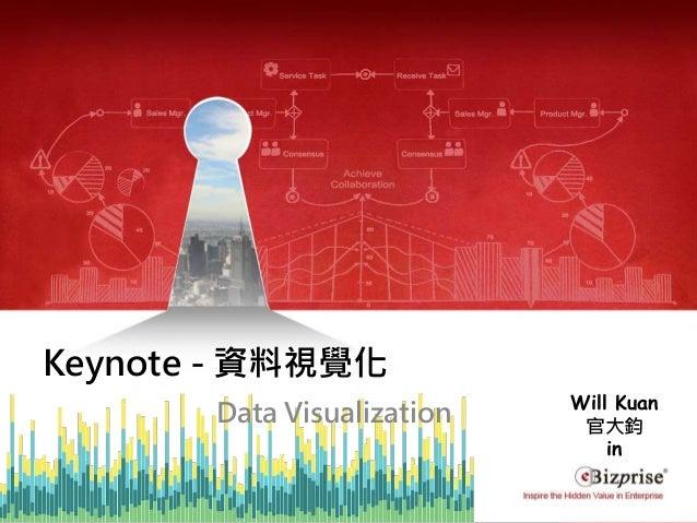COPYRIGHT©2016 eBizprise Inc. & eBizprise Technology (TJ) Ltd. Keynote - 資料視覺化 Data Visualization Will Kuan 官大鈞 in
