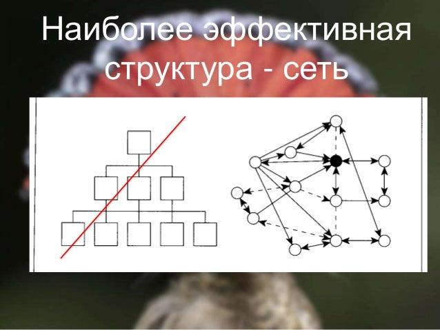 9 Наиболее эффективная структура - сеть